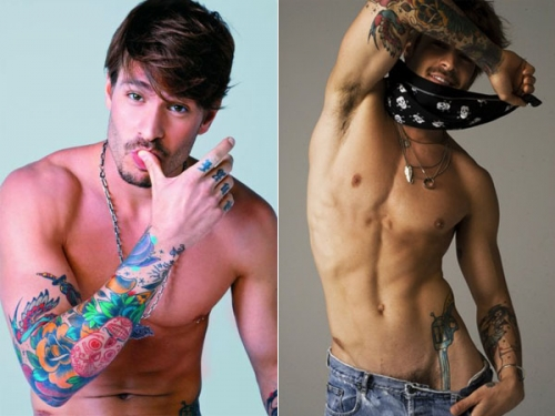 tattoos for men shoulder. Some pics of hot tattoos even